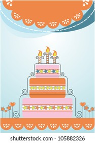 Celebration banner cake boxes with gifts