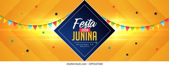 celebration banner for festa junina holidays