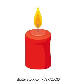celebration candle isolated icon