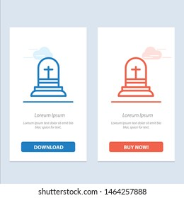 Celebration, Christian, Cross,  Blue and Red Download and Buy Now web Widget Card Template. Vector Icon Template background