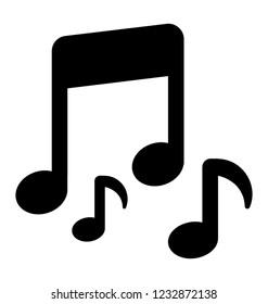 Celebration concept, music solid icon
