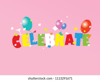 Celebration design card. Easy to add your own text for every celebration ocassion