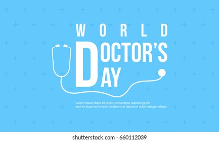 Celebration doctor day design card vector art