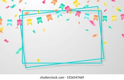 celebration frame banner Background. Vector illustration