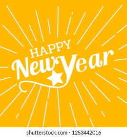 Celebration for Happy new year in newyear 2019 with text star is can made it for new year card or for banner is vector icon or can us to sale card