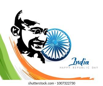 Celebration of Happy Republic day vector illustration