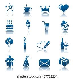 Celebration icon set