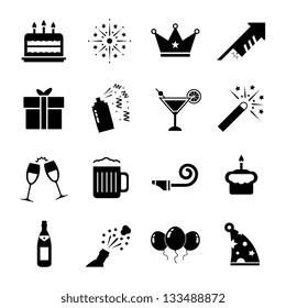Celebration Icon set Black and White