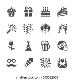 celebration and party icon set 3, vector eps10.