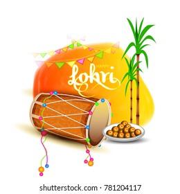 Celebration Punjabi festival  lohri background