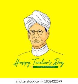 Celebration of teachers day on birthday of Dr. Sarvepalli radhakrishna. Happy teachers day