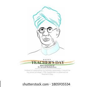 celebration of teachers day on birthday of Dr. Sarvepalli radhakrishna. Happy teachers day.