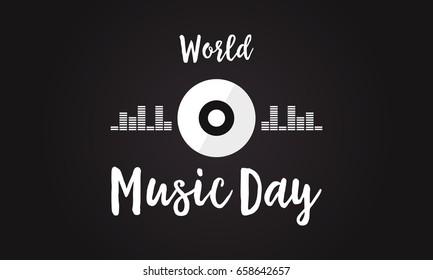 Celebration of world music day background