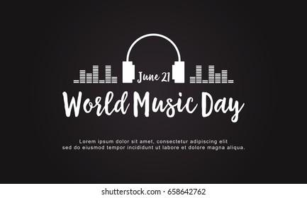 Celebration world music day style background