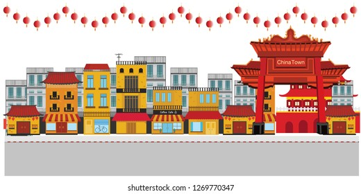 Celebrations in Chinatown on street