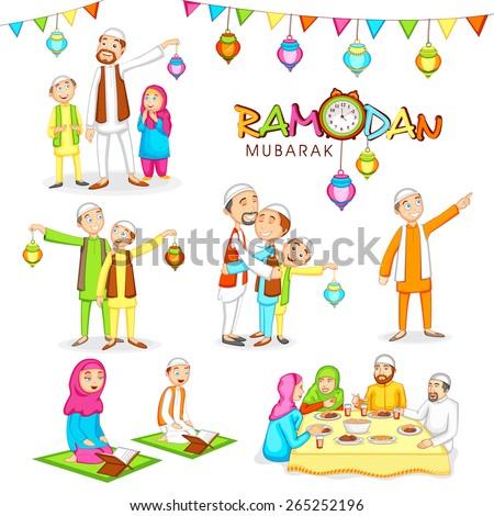 celebrations islamic holy month prayers ramadan のベクター画像素材
