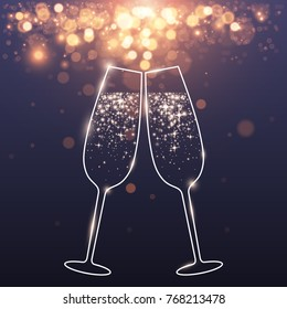 celebratory glasses background