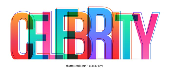 Celebrity colorful word