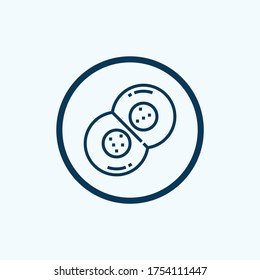 Cell division icon isolated on white background. Cell division icon simple sign. Cell division icon trendy and modern symbol for graphic and web design. Cell division icon flat vector illustration for