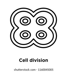 Cell division icon vector isolated on white background, Cell division transparent sign , thin line design elements in outline style
