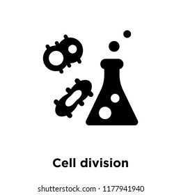 Cell division icon vector isolated on white background, logo concept of Cell division sign on transparent background, filled black symbol