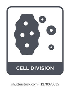 cell division icon vector on white background, cell division trendy filled icons from Chemistry collection, cell division vector illustration