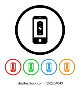 Cell Phone Battery Icon