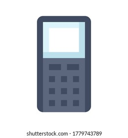 Cell Phone with Buttons flat icon. Mobile Phone vector flat color sign.