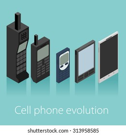 Cell phone evolution vector isometric