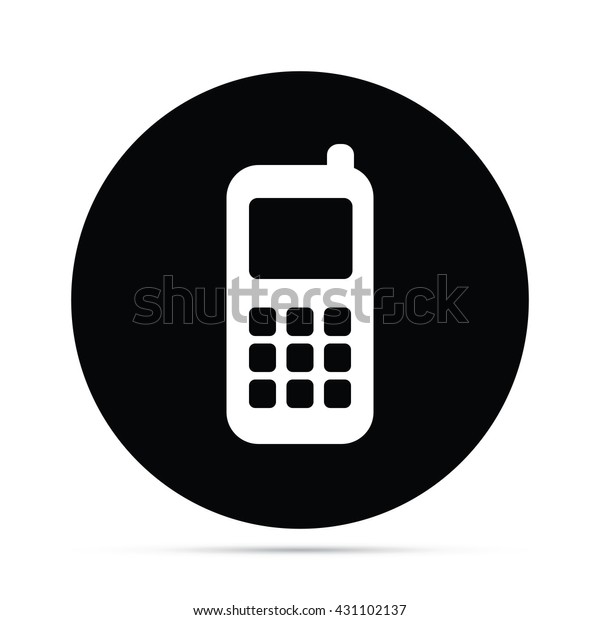 Cell Phone Icon Circle Icon Stock Vector (Royalty Free