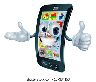Cell phone man character giving a thumbs up