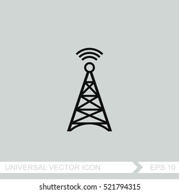 Cell phone tower vector icon.