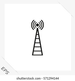 Cell Phone Tower - vector icon