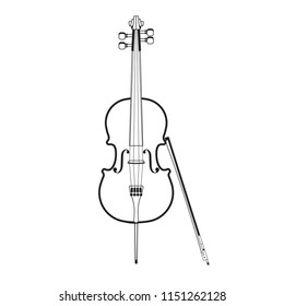 Cello vector illustration isolated on white background