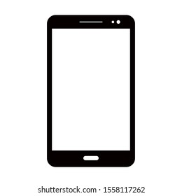 Cellphone with a blank screen. Flat style. Vector illustration of eps 10 web on a white background