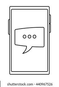 cellphone conversation bubble