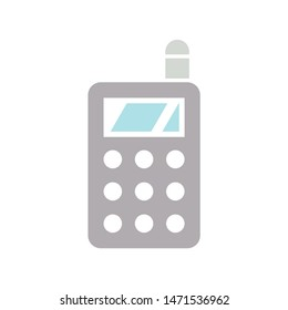 cellphone icon. flat illustration of cellphone - vector icon. cellphone sign symbol