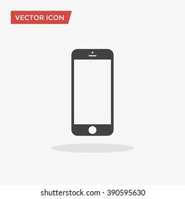 Cellphone Icon in trendy flat style isolated on grey background. Smartphone pictogram. Telephone symbol for your web design, logo, UI. Vector illustration, EPS10.