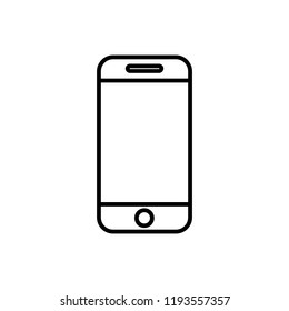 Cellphone icon. Cellphone vector icon. 	 phone vector icon. smartphone. mobile phone in iphone style on the white background.