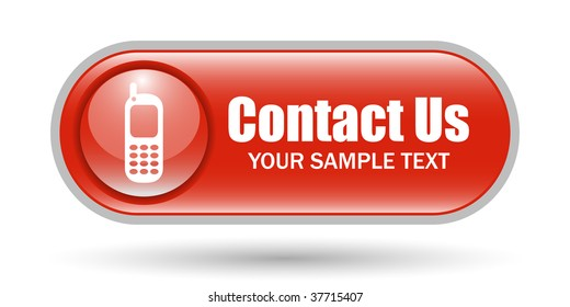 Cellphone Sign Contact Us Button with Space for text
