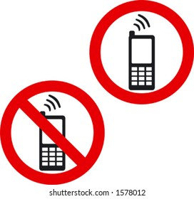 Cellphone Signs, forbidden and allowed