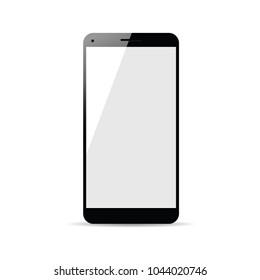 cellphone technology in black color illustration