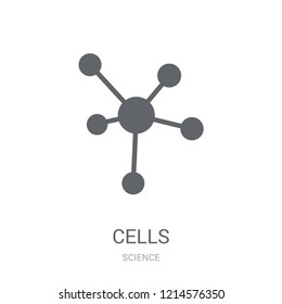 Cells icon. Trendy Cells logo concept on white background from Science collection. Suitable for use on web apps, mobile apps and print media.