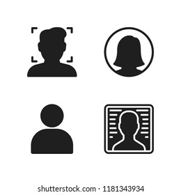 cellular icon. 4 cellular vector icons set. user icons for web and design about cellular theme