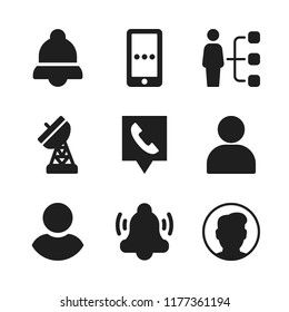 cellular icon. 9 cellular vector icons set. antenna, telephone location and phone message icons for web and design about cellular theme