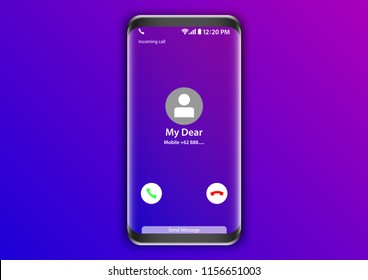 cellular mobile incoming call screen