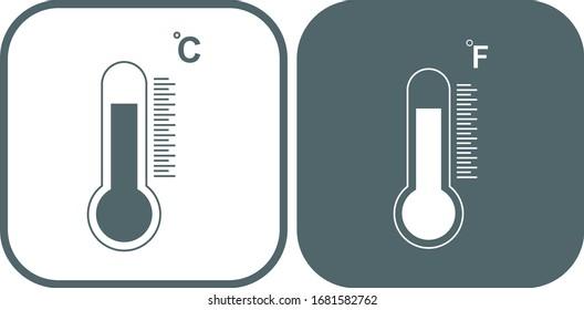 Celsius and Fahrenheit icon. Vector illustration