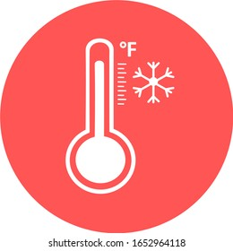 Celsius or fahrenheit meteorology thermometers measuring heat or cold, vector illustration. Thermometer equipment showing hot or cold weather. Medicine thermometer in flat style. Thermometer icon logo