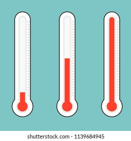 Celsius thermometers. Vector.