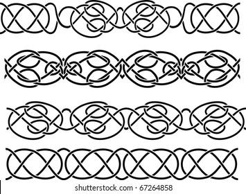 Celtic border seamless stencil set